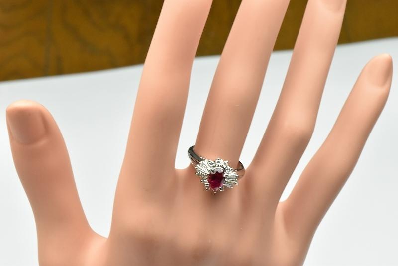 京セラ クレサンベール 綺麗な ルビー リング 10号 指輪_画像4