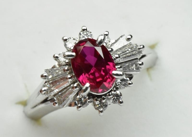 京セラ クレサンベール 綺麗な ルビー リング 10号 指輪_画像1