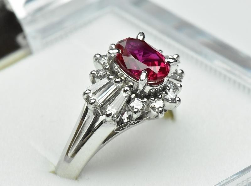 京セラ クレサンベール 綺麗な ルビー リング 10号 指輪_画像2