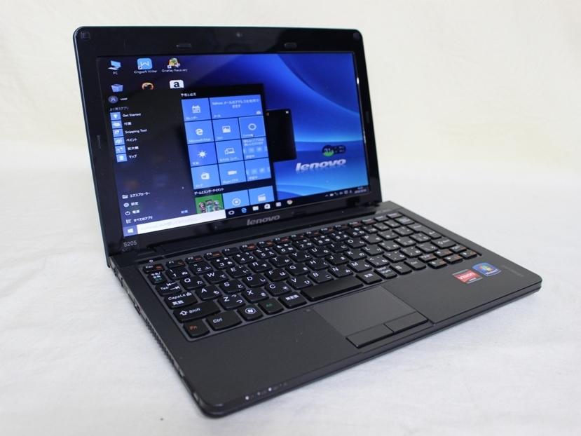 中古品 Lenovo Ideapad S205 AMD E350 1.60GHz HDD320GB メモリ4GB Windows 10 Home済 Kingsoft Office済 元箱あり_画像2