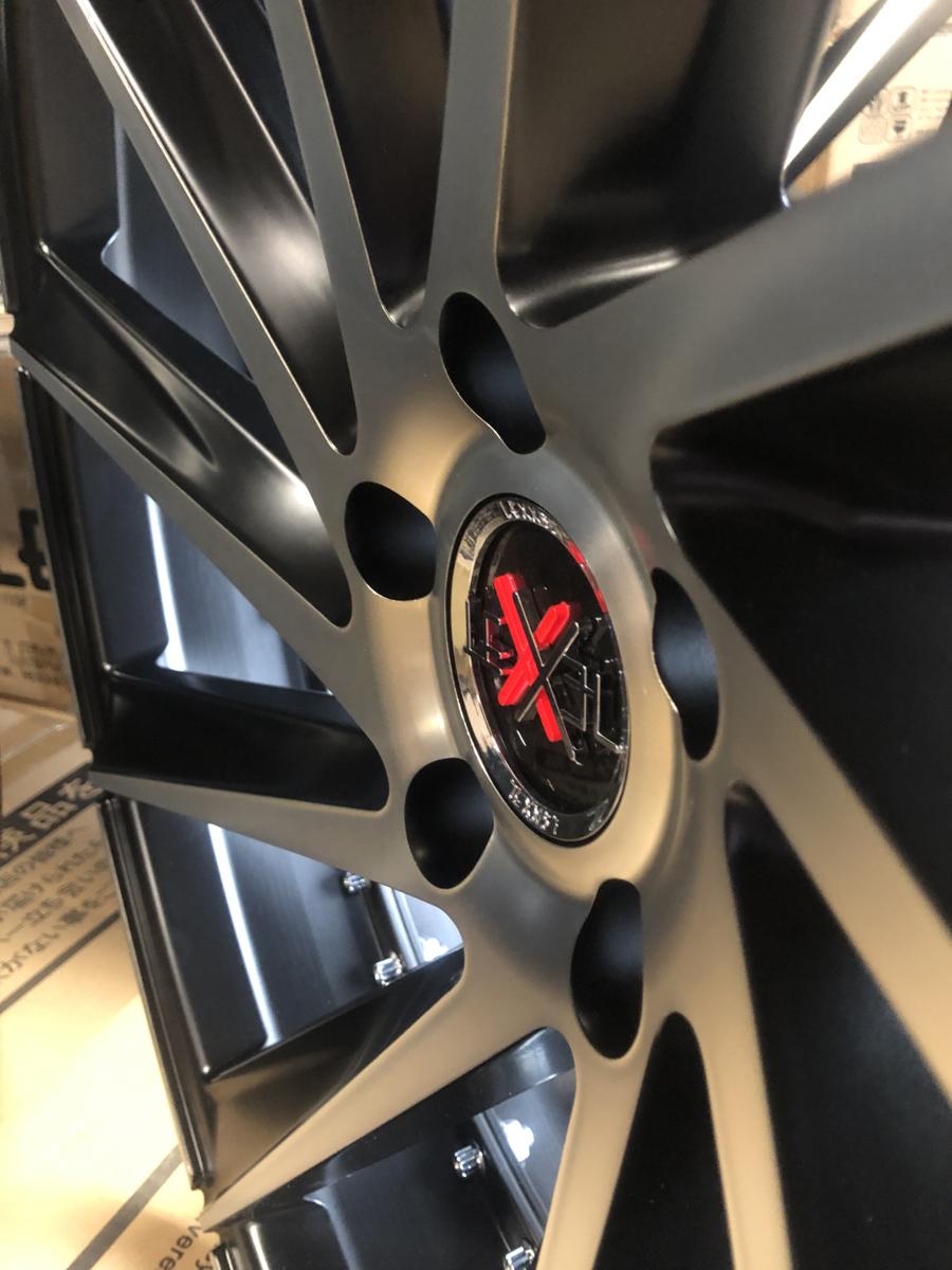 美品!! スカイライン フーガ Z33 SC アルファード ヴェルファイア IS クラウン 20インチ タイヤホイールセット 9J&10J 4本 LEXXEL Laluce_画像7