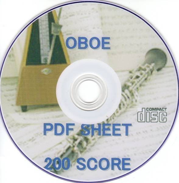 オーボエ OBOE 電子楽譜 200譜 / 音楽指導 電子本 電子楽譜 音域音階 マウスピース iphone11 pro XR ipad mini air 伴奏演奏に ホルン PDF_画像1