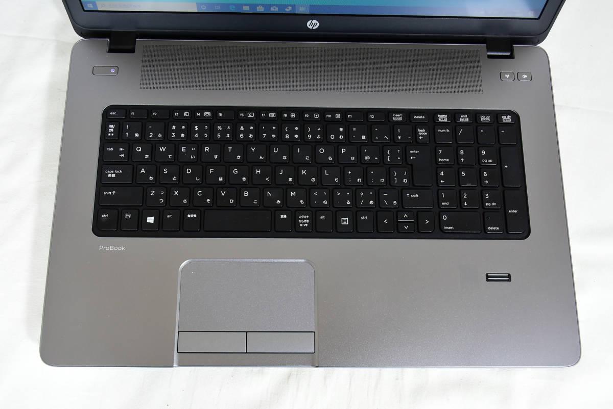 大画面 超ハイスベック新品大容量SSD512G/8G Office 第四世代Corei5-2.5GHz 最新Windows10 64bit HP 中古ノートパソコン470G1 DVD-RW WIFI_画像4