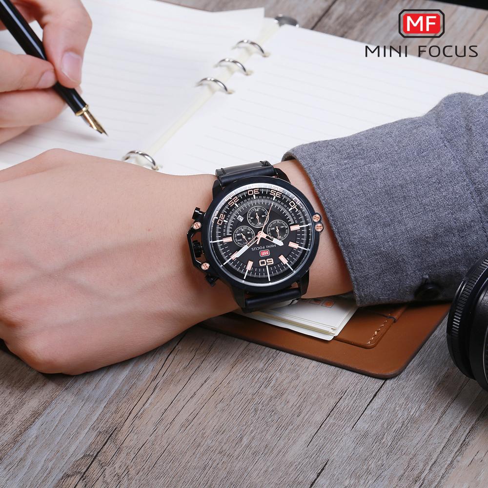 【お買い得◆最低落札価格無し◆新品未使用◆ハイブランド】MINI FOCUS 高級 メンズ クォーツ式 腕時計 防水 クロノグラフ 色選択可◆1042_画像7