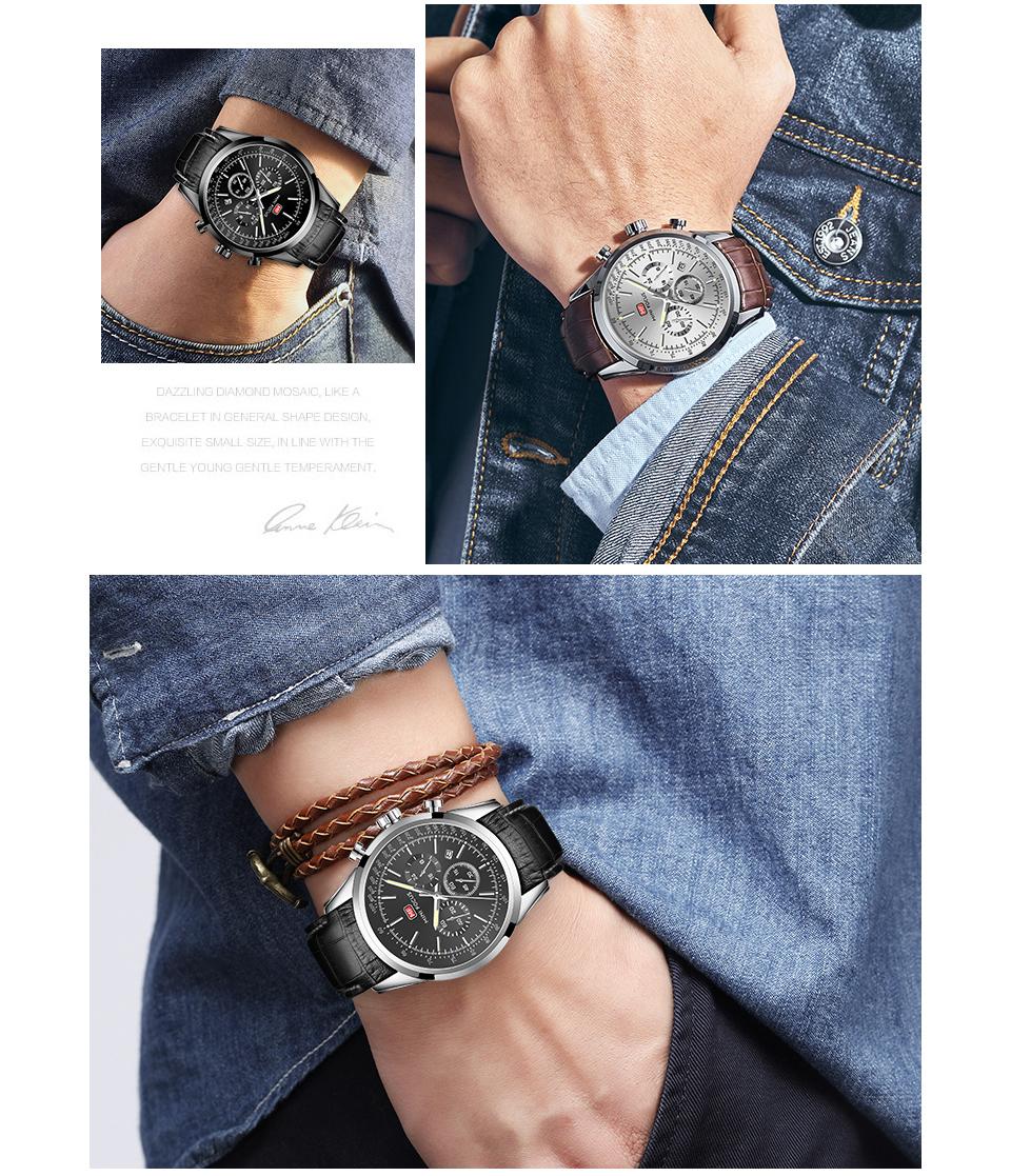 【お買い得◆最低落札価格無し◆新品未使用◆ハイブランド】MINI FOCUS 高級 メンズ クォーツ式 腕時計 防水 クロノグラフ 色選択可◆1018_画像7
