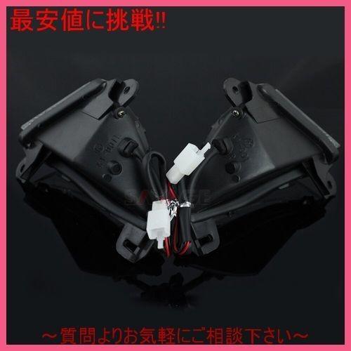 スモーク フロントLEDウィンカー光ランプ カワサキNINJA ニンジャZX-14R ZZR ZZ-R GTR 1400 ZZR1400 GTR1400_画像4
