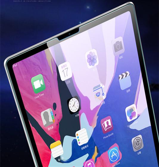 iPad Pro 12.9インチ ガラスフィルム0.33mm 硬度9H Face ID対応強化ガラス液晶保護フィルム 超薄型高感度高透過率指紋気泡防止飛散防止処理_画像4