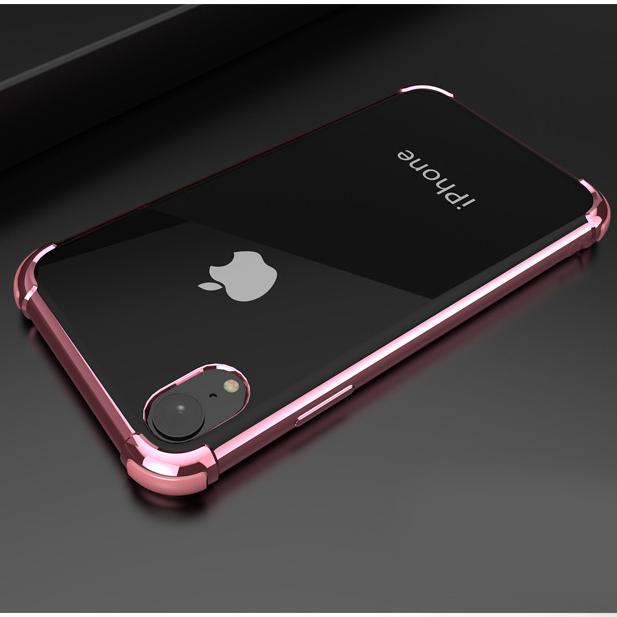 ピンクiPhoneXRソフトクリアケース TPU TPE耐衝撃 防塵 指紋防止 透明 ワイヤレス充電対応 軽量 薄型 一体型3_画像1
