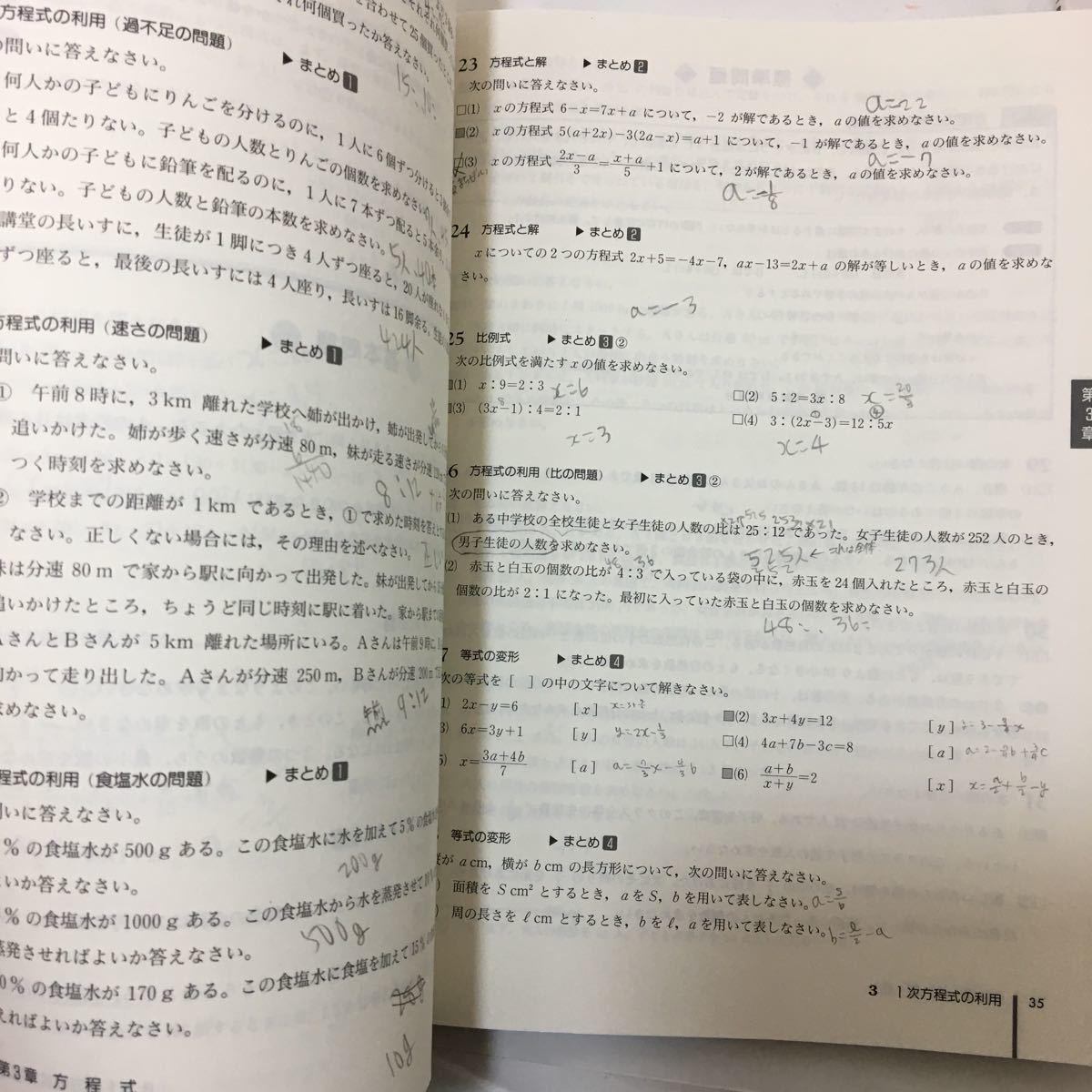 ♪ 体系問題集数学1 代数編―中高一貫教育をサポートする 中学1,2年生用 代数編+幾何編2冊セット(解答・解説付)単行本 2015  z-45