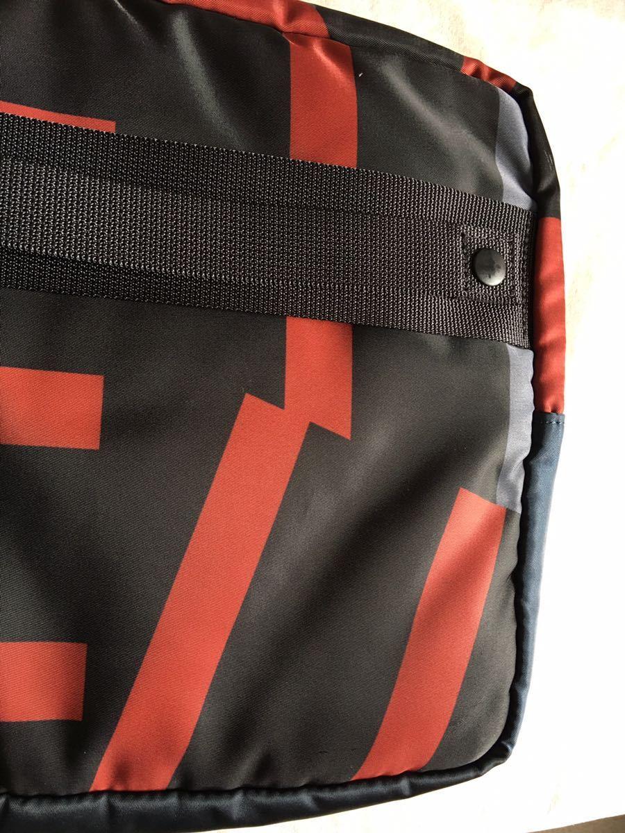鞄 ◆ MARNI × PORTER クラッチバッグ サーフィン 切替 2way マルニ × ポーター サーフコレクション 総柄 グレー レッド 110_画像6