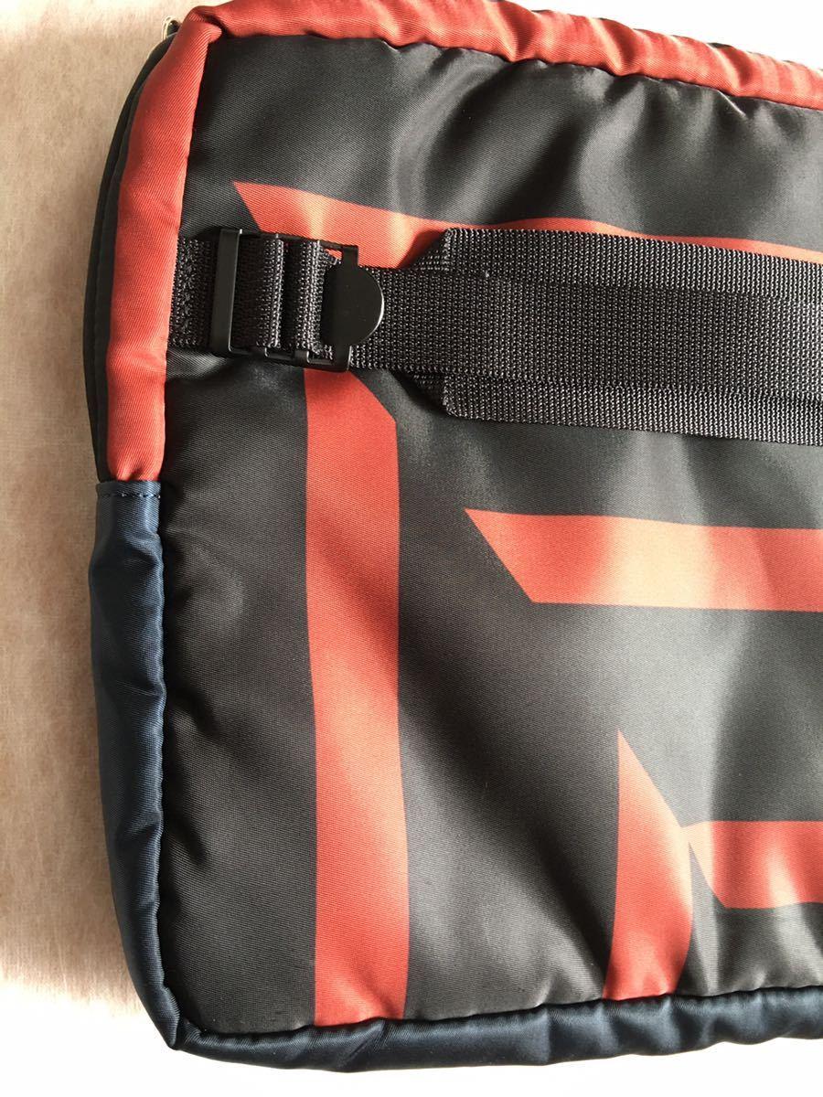 鞄 ◆ MARNI × PORTER クラッチバッグ サーフィン 切替 2way マルニ × ポーター サーフコレクション 総柄 グレー レッド 110_画像7