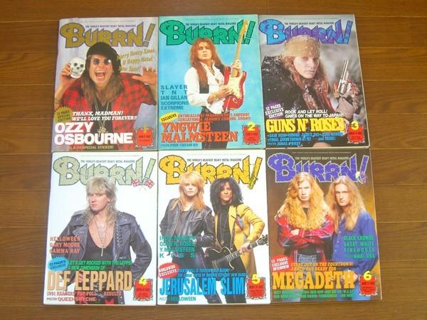 BURRN!/ バーン! 1992年 1年分 12冊 KISS/オジーオズボーン/マルムスティーン/スキッドロウ/他 5mb8_画像1
