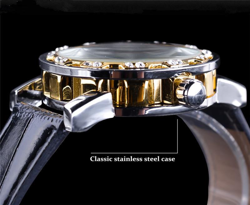 新品 メンズ腕時計 アナログ 防水 ラグジュアリー クォーツ式 海外輸入品 透かし雕り 20代30代40代 ビジネス 賞品_画像5