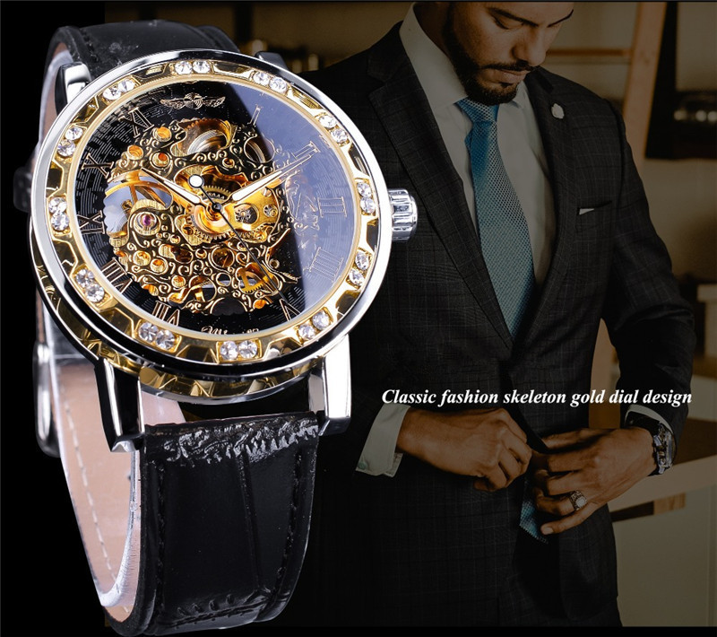 新品 メンズ腕時計 アナログ 防水 ラグジュアリー クォーツ式 海外輸入品 透かし雕り 20代30代40代 ビジネス 賞品_画像3