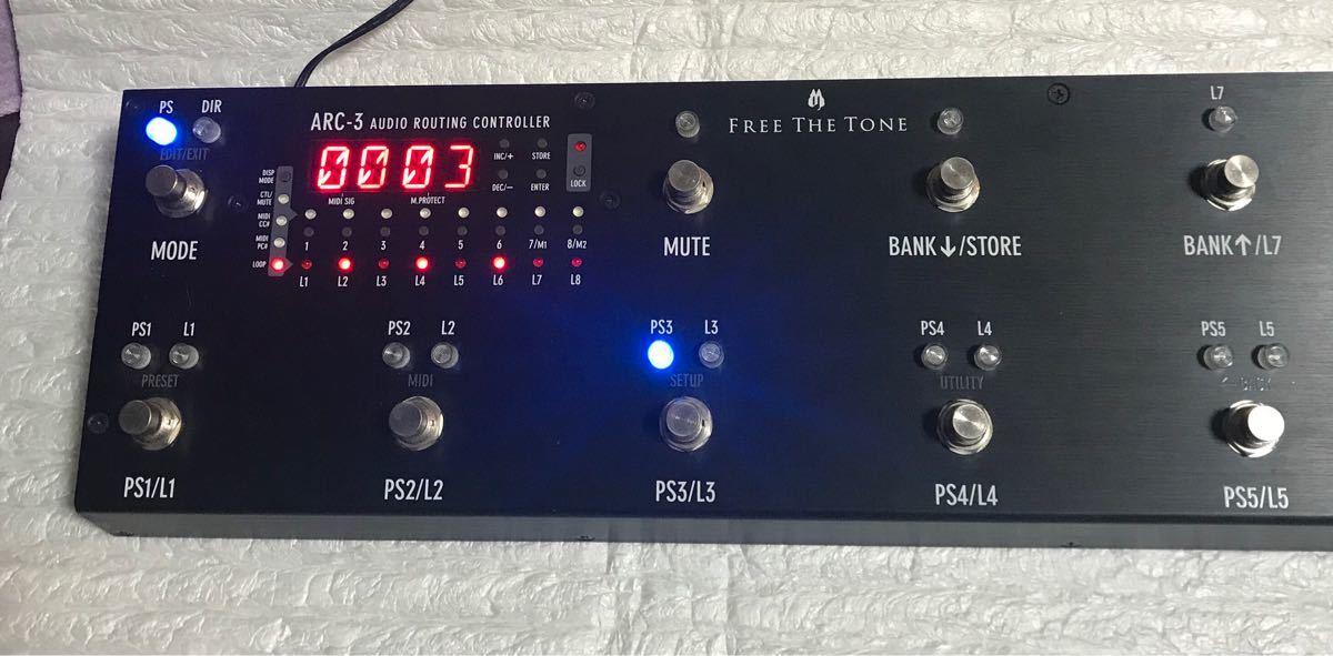 FREE THE TONE ARC-3 ブラック プログラマブルスイッチャー