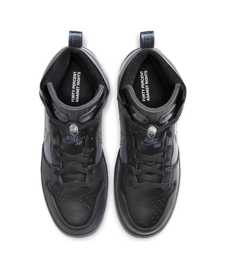25cm FPAR x Nike SB Dunk High Pro PRM QS Black US7 国内正規品 ナイキ ダンク FORTY PERCENTS AGAINST RIGHTS BV1052-001_画像2