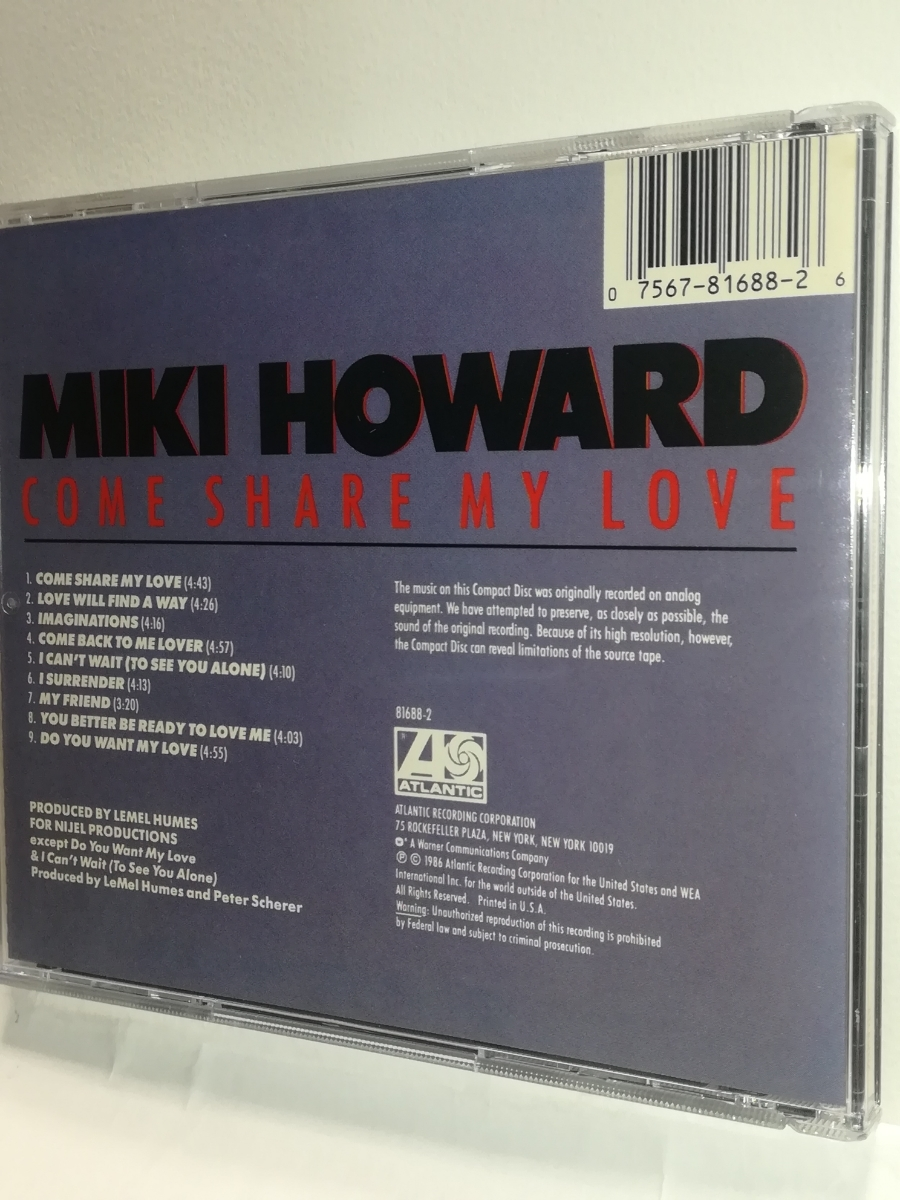 Miki Howard/Come Share My Love_画像2