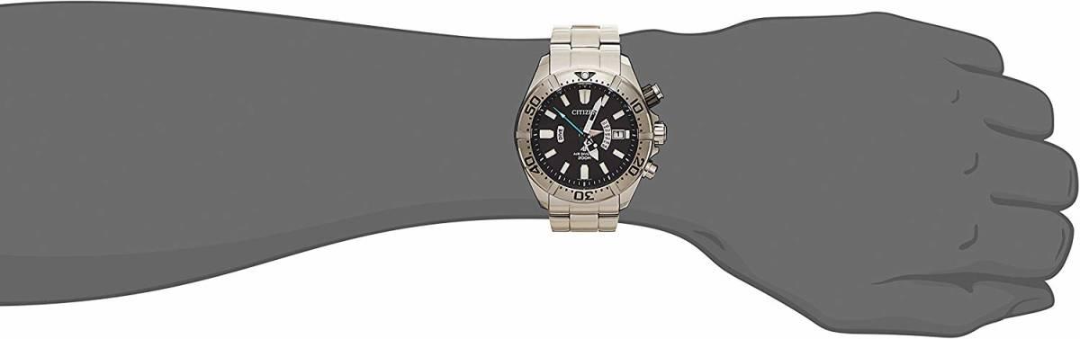 [シチズン]CITIZEN 腕時計 PROMASTER プロマスター エコ・ドライブ 電波時計 マリンシリーズ 200m ダイバー PMD56-3081 メンズ -536-_画像9