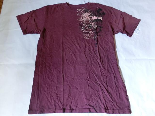 USA購入 MADE IN USA 【Hurley】 ハーレー ロゴプリントTシャツUS XLサイズ エンジ_画像2