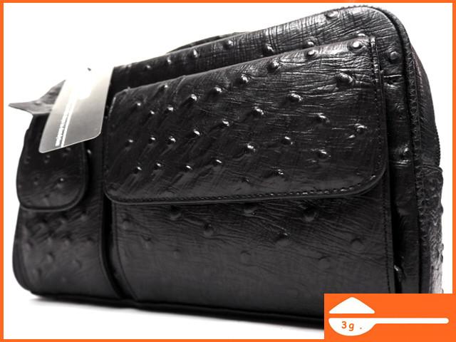 即決★KEIM'S★オールレザーハンドバッグ 新品 未使用品 ケイムス レディース 本革 本皮 オーストリッチ型押し ポーチ かばん 鞄 B405 3g._画像1