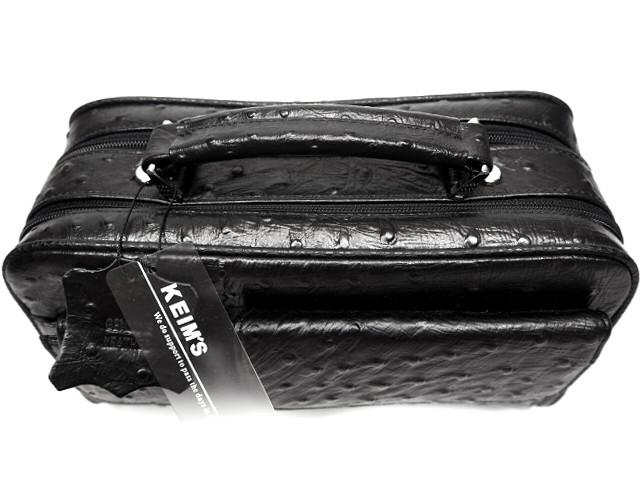 即決★KEIM'S★オールレザーハンドバッグ 新品 未使用品 ケイムス レディース 本革 本皮 オーストリッチ型押し ポーチ かばん 鞄 B405 3g._画像4