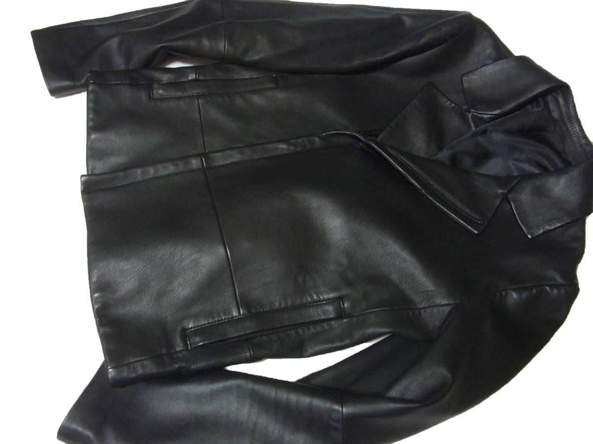 カルバンクライン 羊革レザーダブルライダースジャケット黒