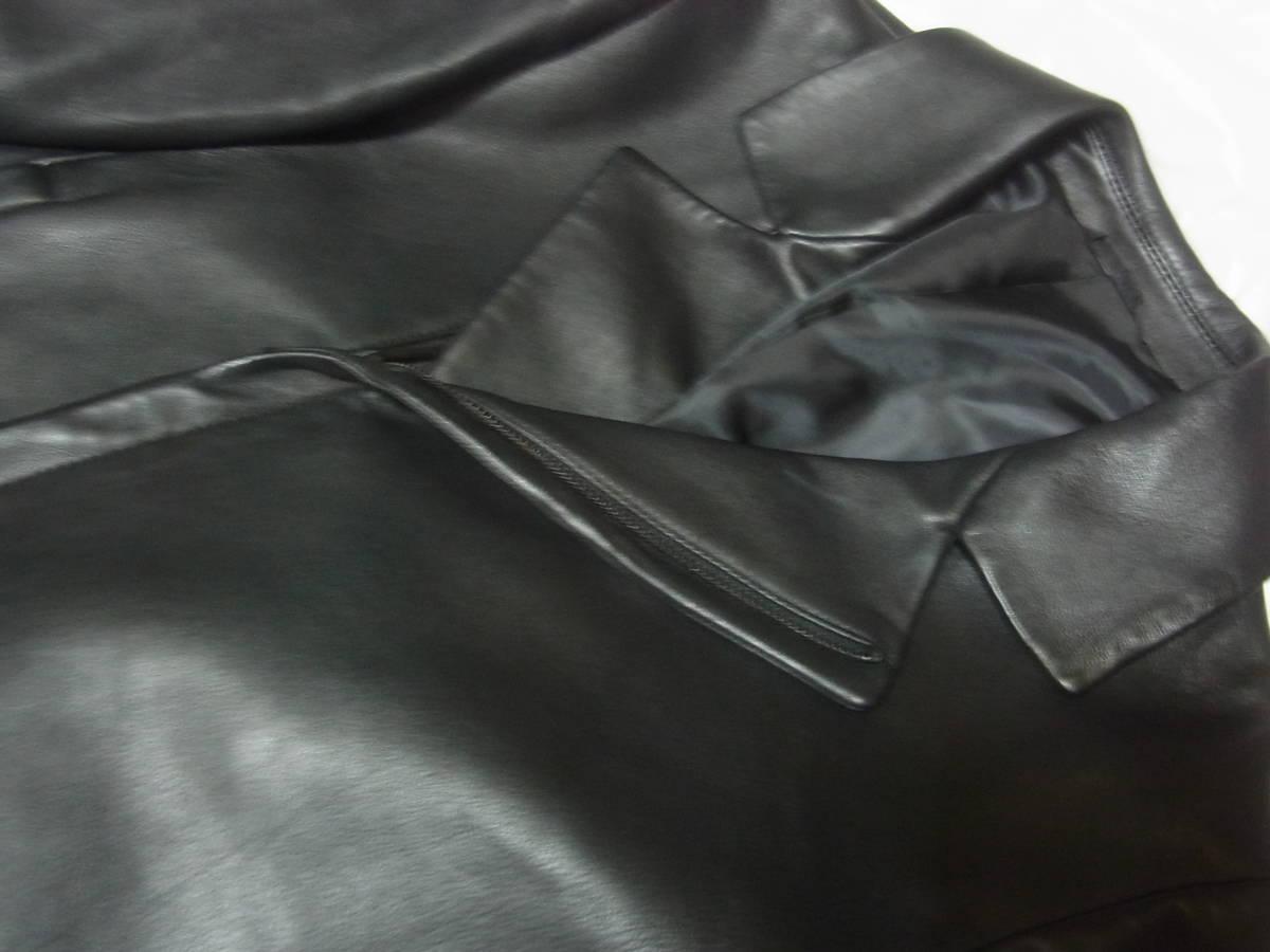 カルバンクライン 羊革レザーダブルライダースジャケット黒_画像2