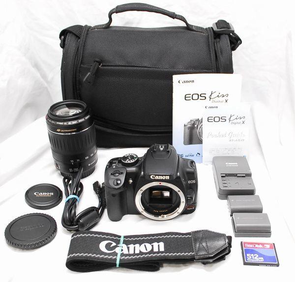 【超美品・豪華セット】Canon キヤノン Kiss X EF 55-200mm Ⅱ USM