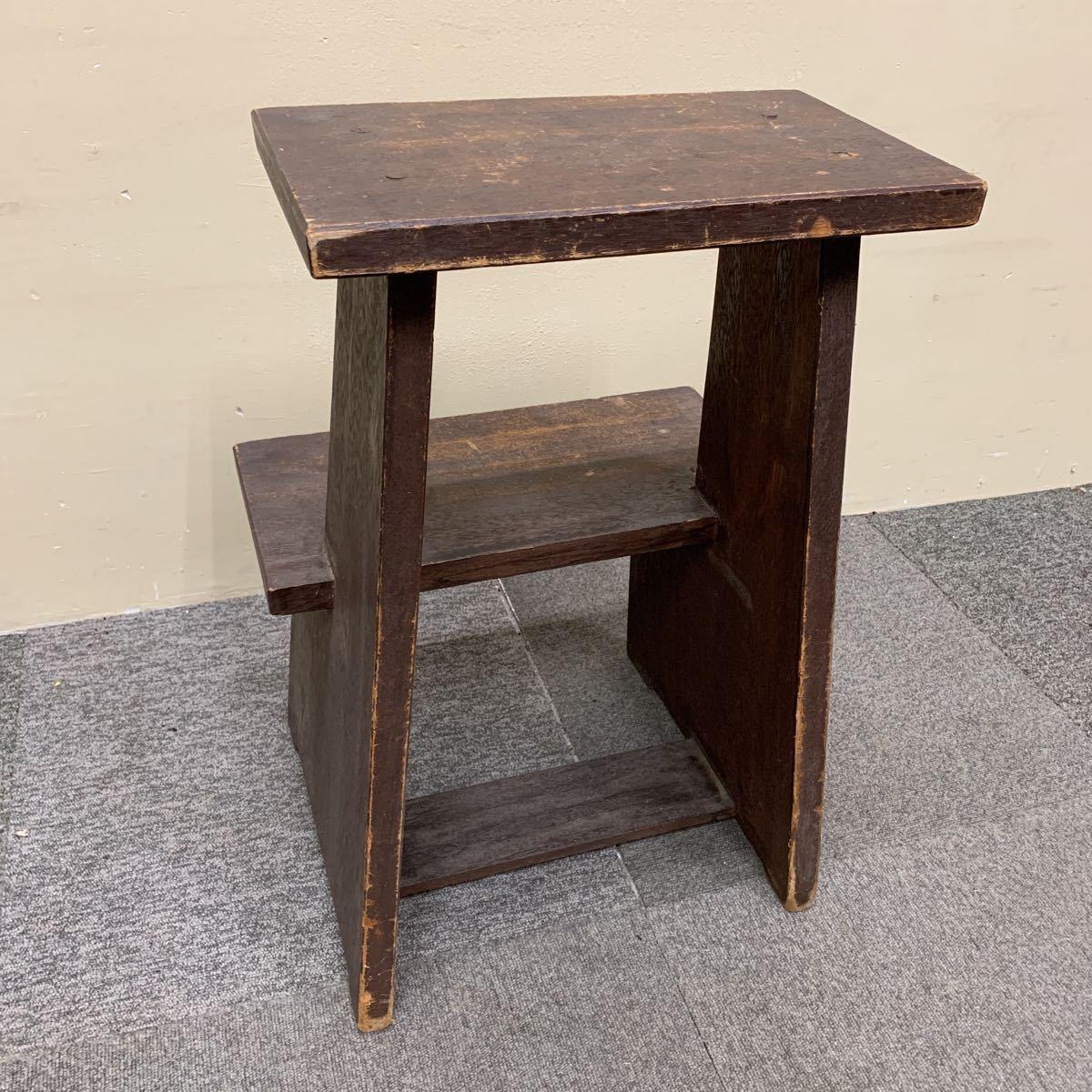 * 木製 スツール 踏み台 飾り棚 花台 ステップ ディスプレイ 陳列台 レトロ アンティーク 格安売り切りスタート◎_画像3