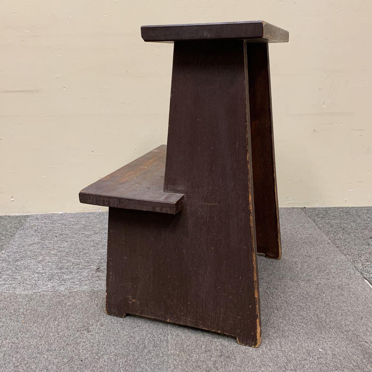 * 木製 スツール 踏み台 飾り棚 花台 ステップ ディスプレイ 陳列台 レトロ アンティーク 格安売り切りスタート◎_画像4