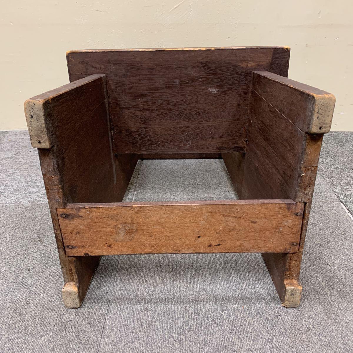 * 木製 スツール 踏み台 飾り棚 花台 ステップ ディスプレイ 陳列台 レトロ アンティーク 格安売り切りスタート◎_画像5