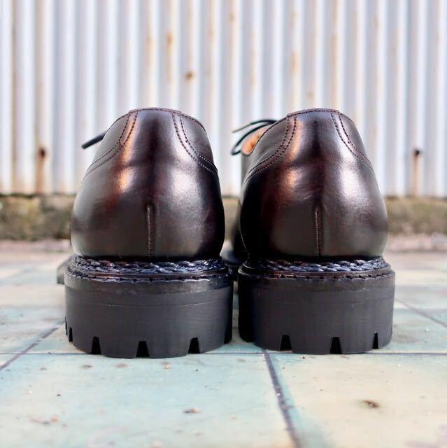 [ブヒシューズ] カスタム/YANKO/ヤンコ/約25cm/黒/革靴/Uチップ/ドレスシューズ/ハンドソーンウェルト/ノルベジェーゼ製法_画像5