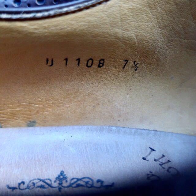 [ブヒシューズ] カスタム/UNION IMPERIAL/ユニオンインペリアル/約26-26.5cm/茶/革靴/ドレスシューズ/ハンドソーンウェルト/カデノン製法_画像8