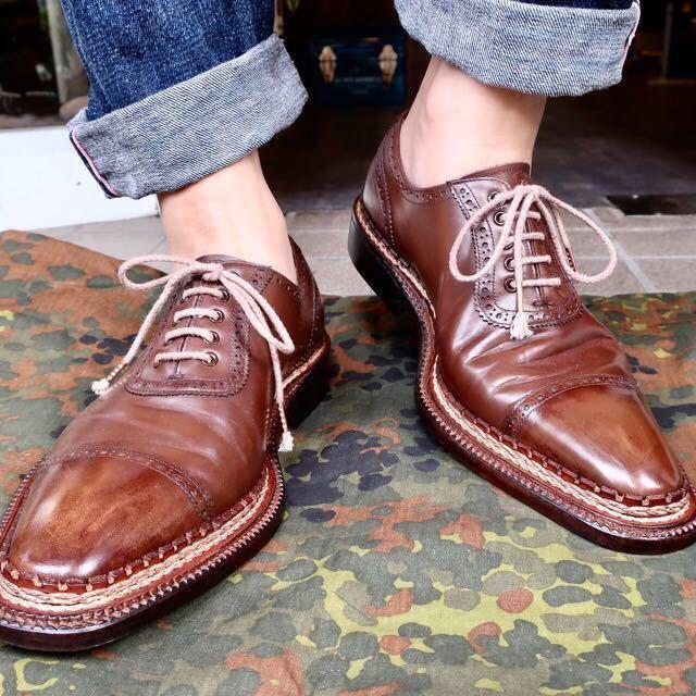 [ブヒシューズ] カスタム/UNION IMPERIAL/ユニオンインペリアル/約26-26.5cm/茶/革靴/ドレスシューズ/ハンドソーンウェルト/カデノン製法_画像10