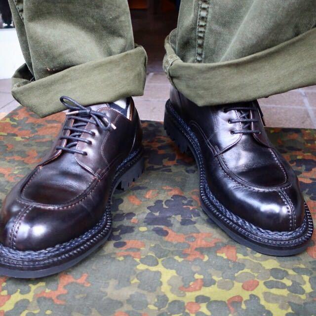 [ブヒシューズ] カスタム/YANKO/ヤンコ/約25cm/黒/革靴/Uチップ/ドレスシューズ/ハンドソーンウェルト/ノルベジェーゼ製法_画像10