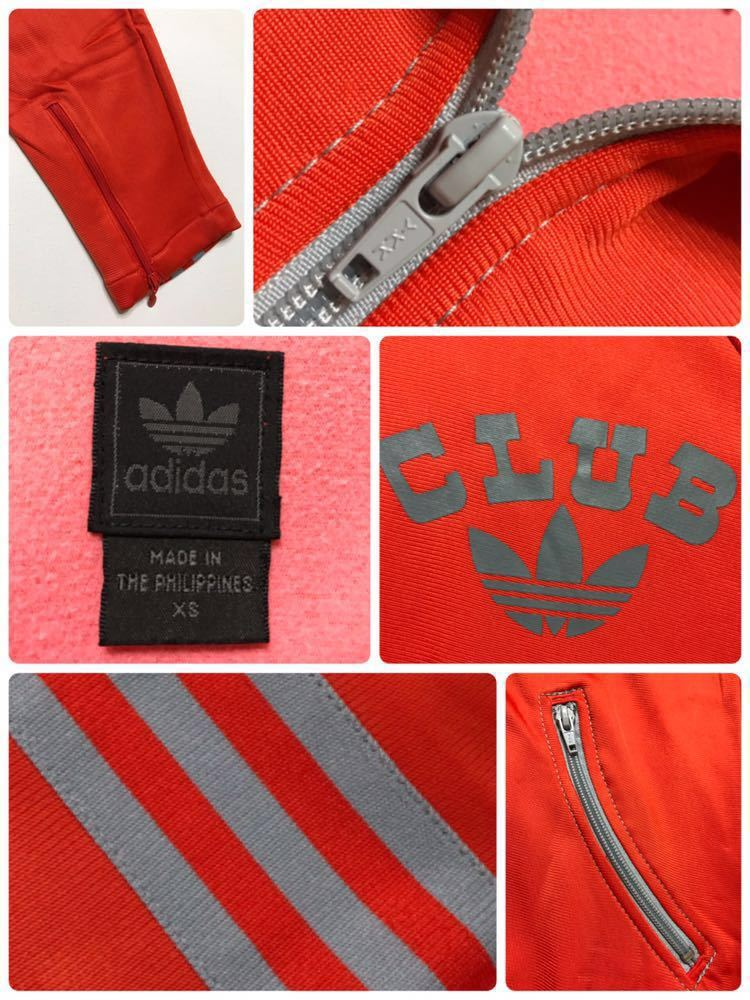 adidas originals アディダス オリジナルス ジャージ トラックトップ ジャケット ビッグロゴ 曲がりポケット マドンナ 長袖 サイズXS_画像5
