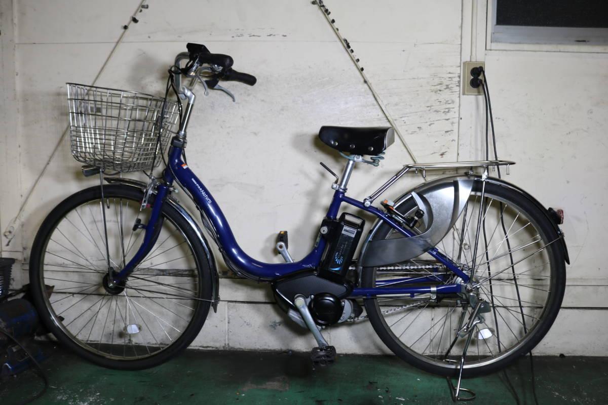 現行新基準美品!ヤマハPAS NATURA X903-0001 リチウム8.7AH 26インチ 3段 LED 青色系_画像2