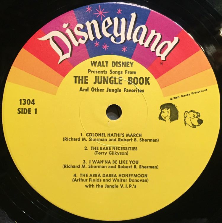 【US盤/Soundtrack/美盤(EX)/LP】The Jungle V.I.P's Songs From The Jungle Book And Other Jungle Favourites / 試聴検品済_画像3