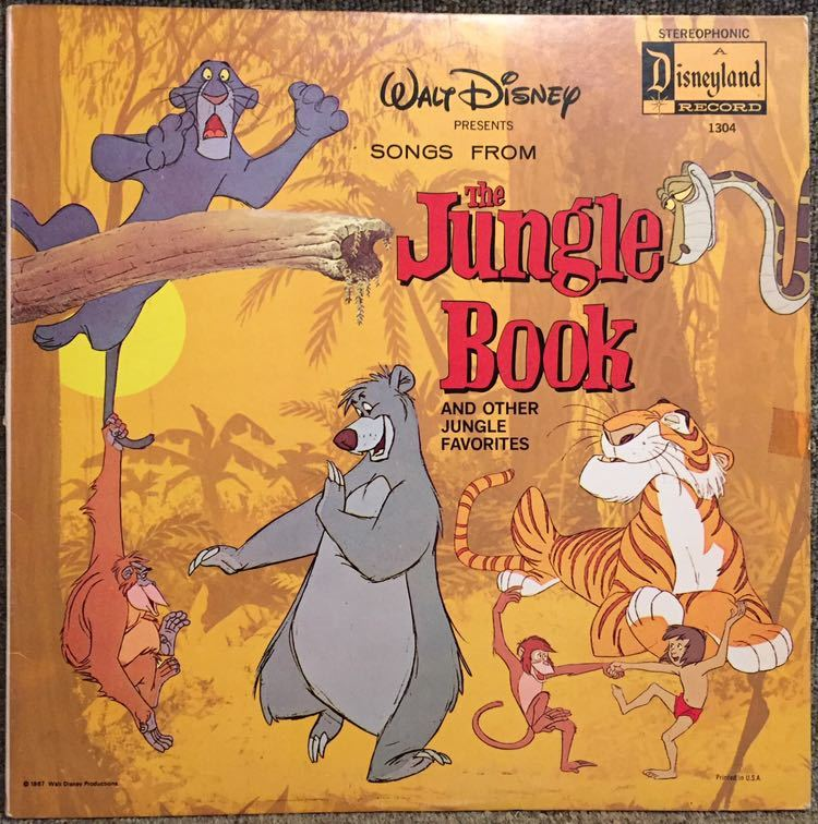 【US盤/Soundtrack/美盤(EX)/LP】The Jungle V.I.P's Songs From The Jungle Book And Other Jungle Favourites / 試聴検品済_画像1
