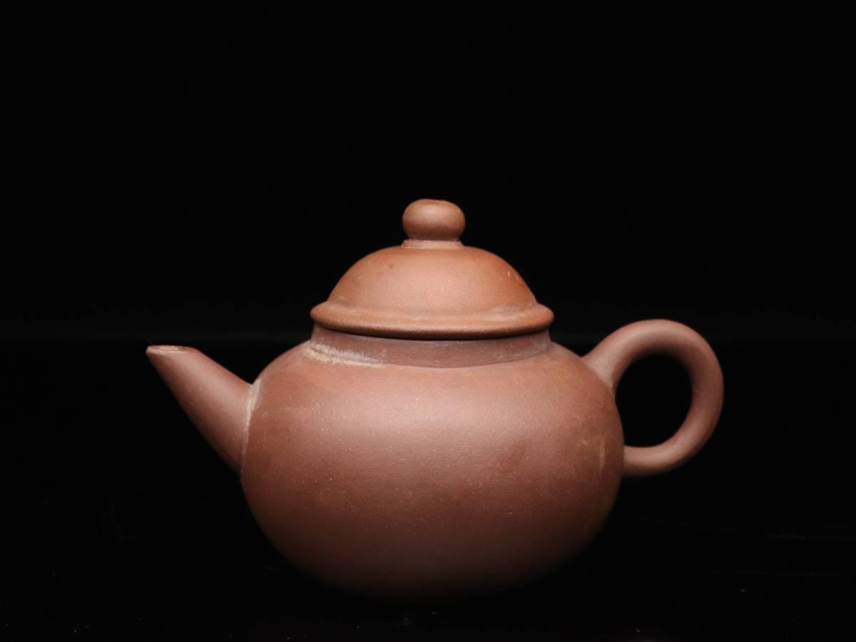 【蔵】中国古玩 葛明昌 造 紫砂 後手急須 朱泥 急須 唐物 煎茶道具 C023_画像2