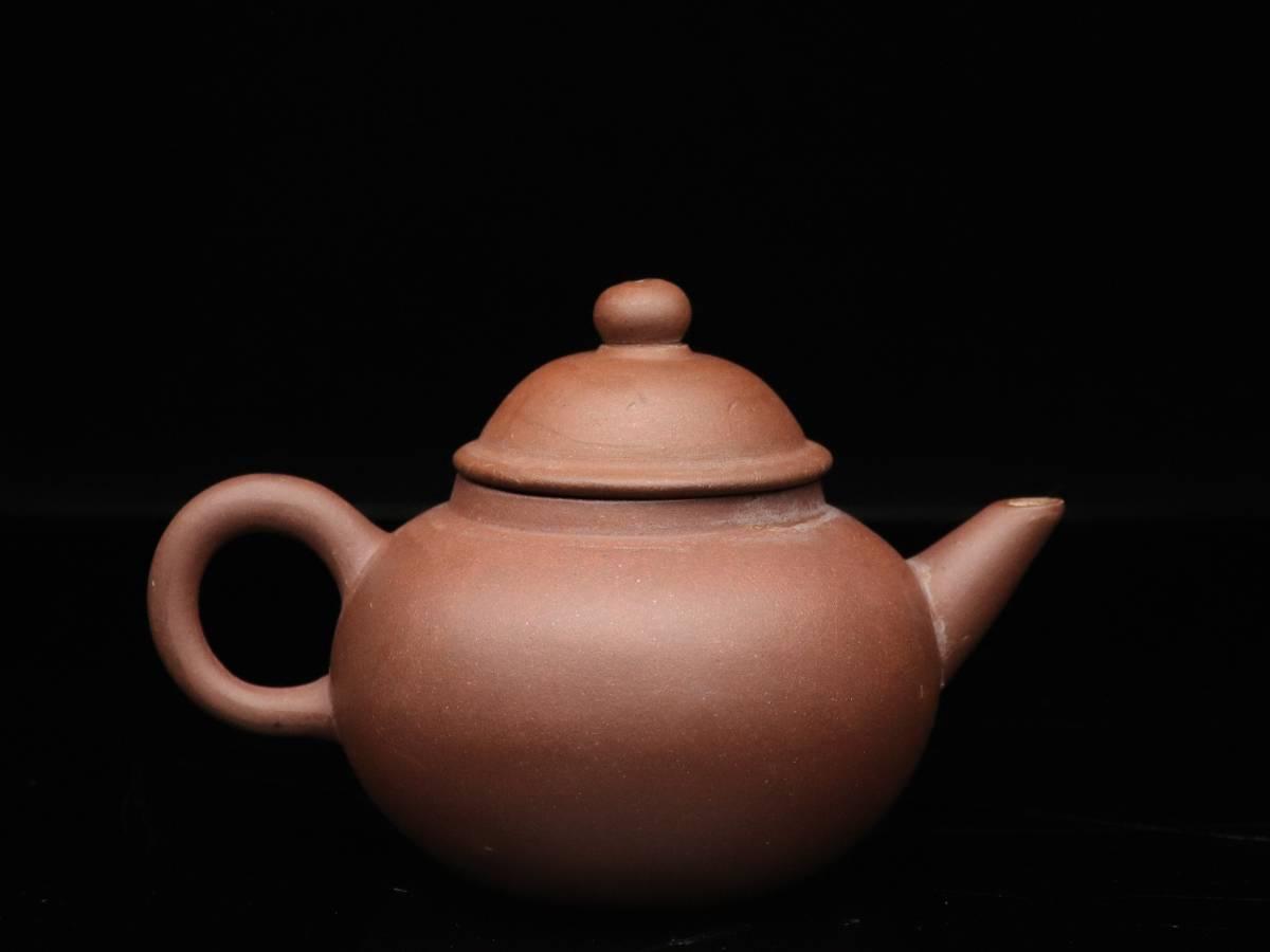 【蔵】中国古玩 葛明昌 造 紫砂 後手急須 朱泥 急須 唐物 煎茶道具 C023_画像4