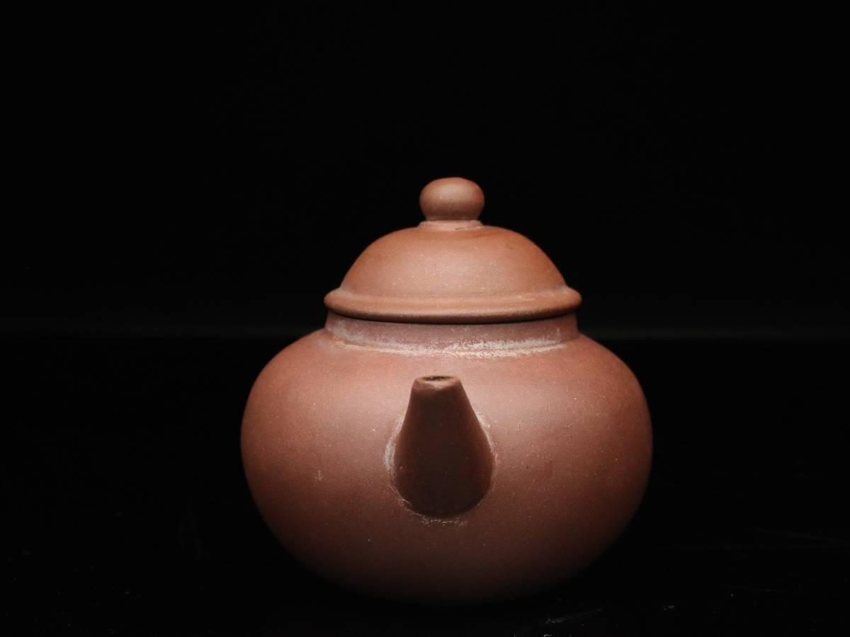 【蔵】中国古玩 葛明昌 造 紫砂 後手急須 朱泥 急須 唐物 煎茶道具 C023_画像3
