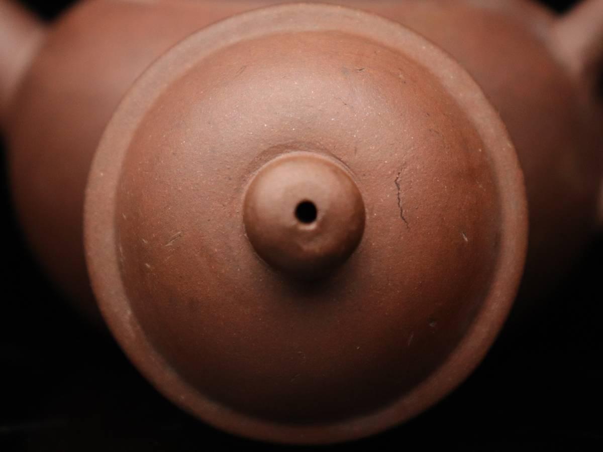【蔵】中国古玩 葛明昌 造 紫砂 後手急須 朱泥 急須 唐物 煎茶道具 C023_画像9