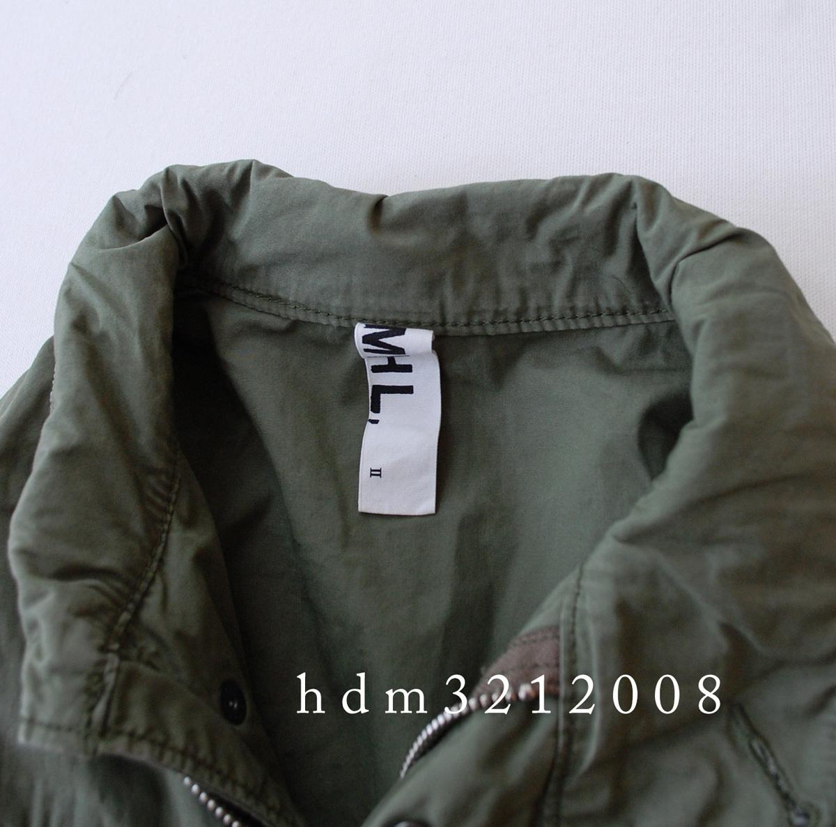 MHL×ALPHA コットンツイル ミリタリージャケット M-65 マーガレットハウエル_画像3