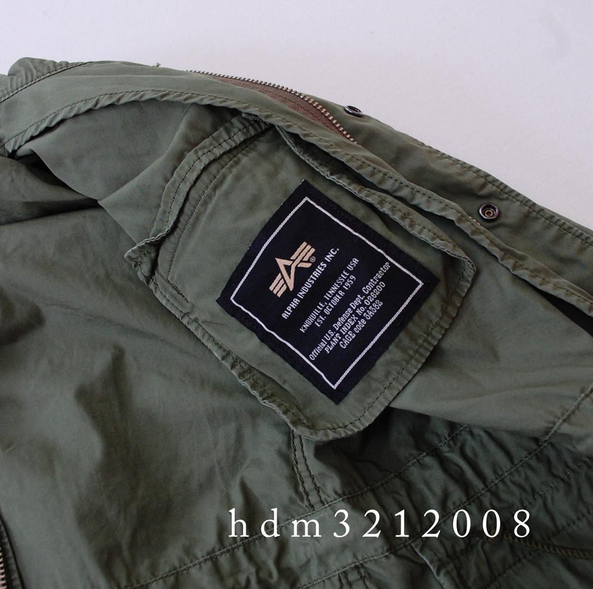 MHL×ALPHA コットンツイル ミリタリージャケット M-65 マーガレットハウエル_画像6
