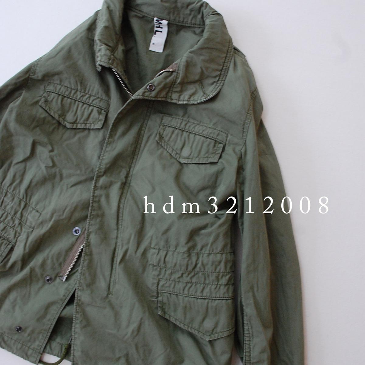 MHL×ALPHA コットンツイル ミリタリージャケット M-65 マーガレットハウエル_画像4
