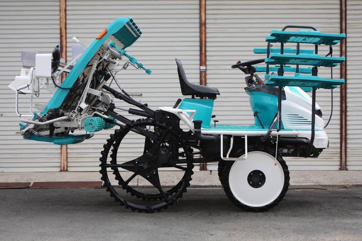 クボタ 田植機 ウェルスターラクエル 5条植 EP55 15馬力 自動水平 4輪駆動 整地ローター 薬剤散布機_画像2
