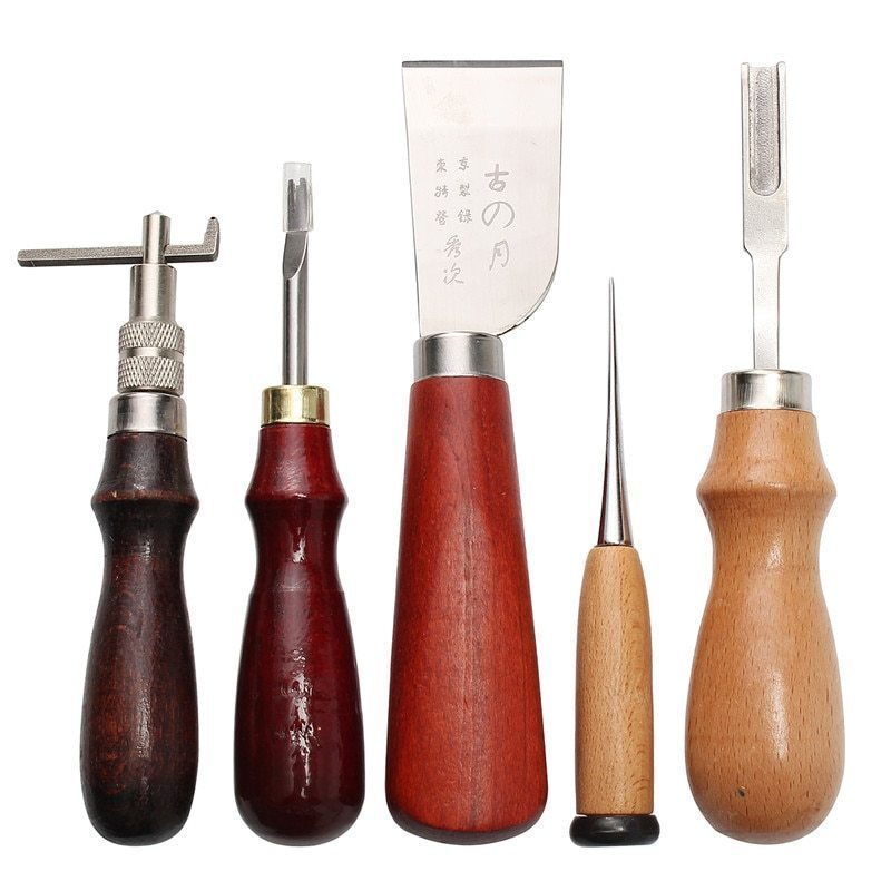 レザークラフト 縫い道具セット37点セット KiWarm レザーツール 革工具セット 革細工・DIY・手作り 縫製キット 人気_画像4
