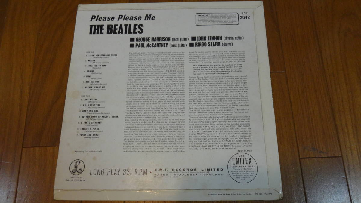 UK・BIGSTEREO盤LP・THE BEATLES/PLEASE PLEASE ME_画像2