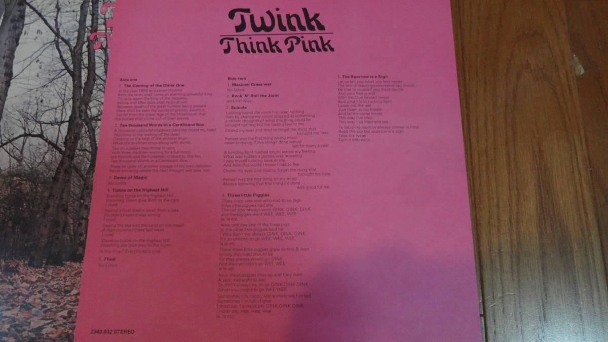 UKマト1盤レア盤LP・TWINK/THINK PINK_画像7